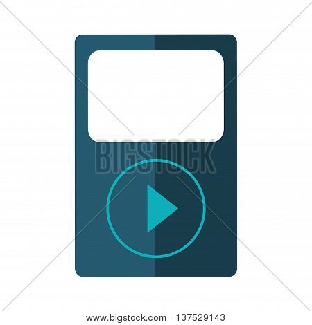Music concept represented by mp3 icon. isolated and flat illustration