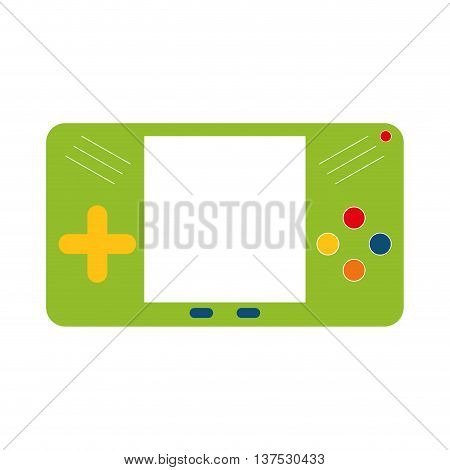 Video game concept represented by control icon. isolated and flat illustration