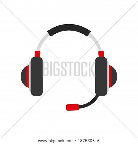 Music concept represented by headphone icon. isolated and flat illustration