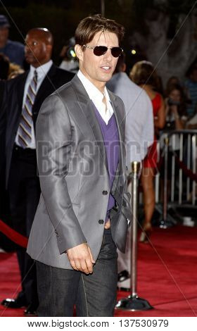 Tom Cruise at the Los Angeles premiere of 'Tropic Thunder' held at the Mann Village Theater in Westwood, USA on August 11, 2008.