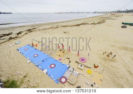 Santa Barbara Beach And Sea Shore