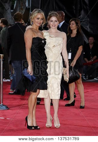 Christine Taylor and Amy Adams at the Los Angeles premiere of 'Tropic Thunder' held at the Mann Village Theater in Westwood, USA on August 11, 2008.