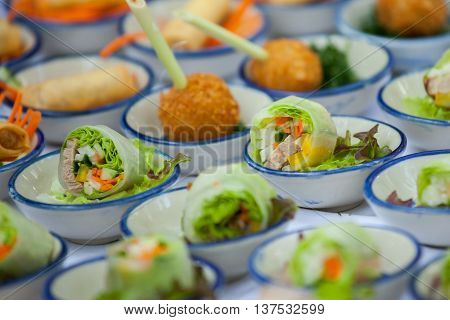 Canape Set Up