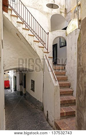 External House Stairs at Capri Island in Italy