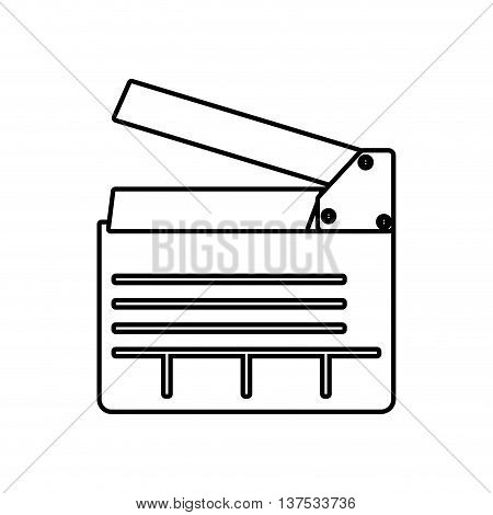 Movie concept represented by clapboard icon. isolated and flat illustration