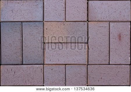 Ceramic Paving Slabs In The Form Of Bricks