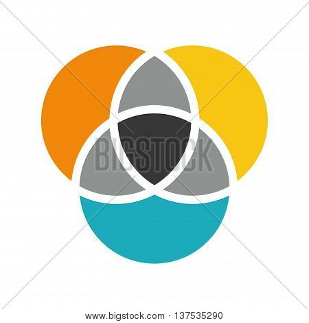 Infographic concept represented by multicolored circle icon. isolated and flat illustration