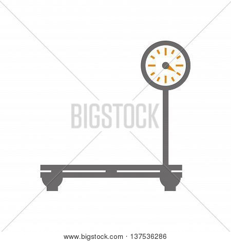 Measure instrument concept represented by weight  icon. isolated and flat illustration