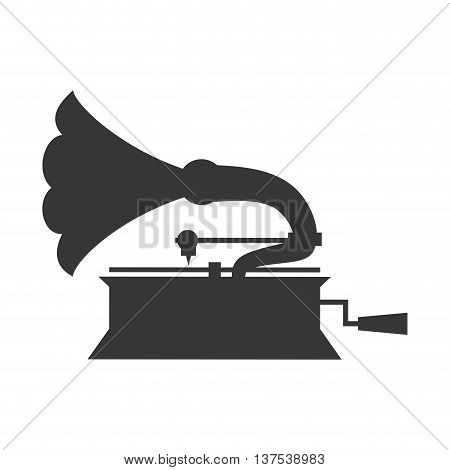 Retro music concept represented by saxophone  icon. isolated and flat illustration