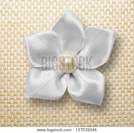 White Textile Decorative Flower