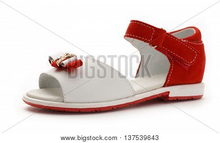 Girl's Red And White Sandal