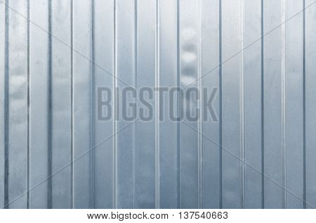Steel Gray Blank Fence As Background
