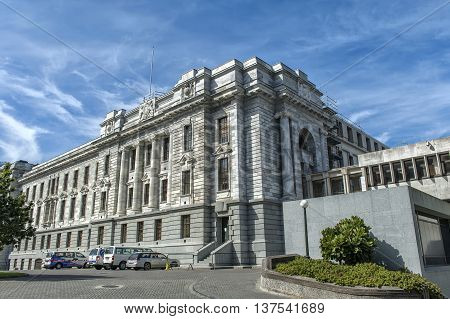 Wellington, New Zealand - March 3 2016: Parliament House one of New Zealand Parliament Buildings in Wellington