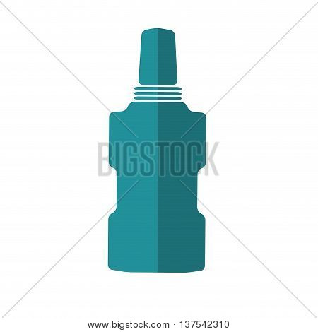 Dental care instument concept represented by mouthwash icon. isolated and flat illustration