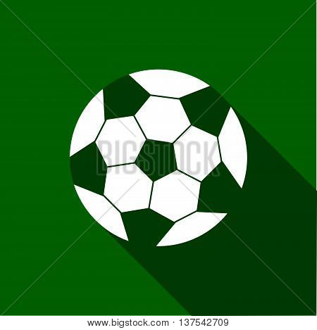 Equipment For Sports. Flat Sports Objects For Team Games. Isolated Soccer Ball. Vector Illustration.
