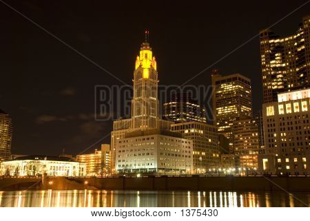 Columbus At Night