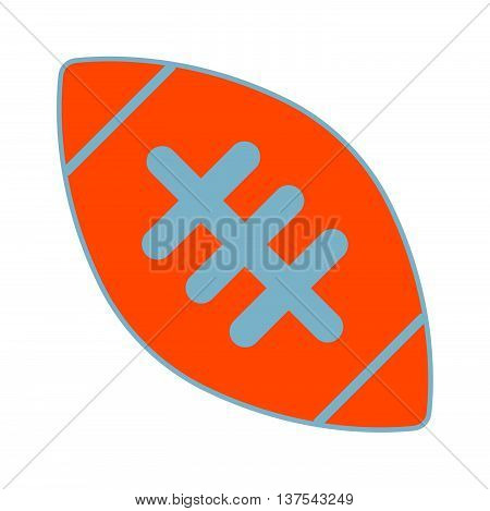 American Football Ball Sign. Equipment For Professional American Sport. Simple Design. Sport Competi