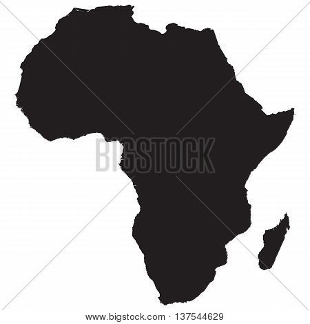 Africa Continent Icon africa map shape continent vector