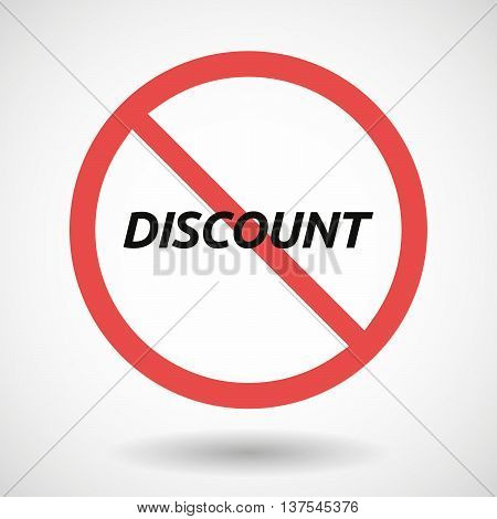 Isolated Forbidden Signal With    The Text Discount
