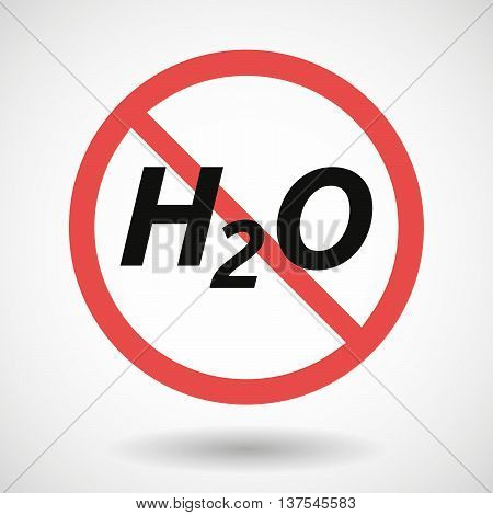 Isolated Forbidden Signal With    The Text H2O