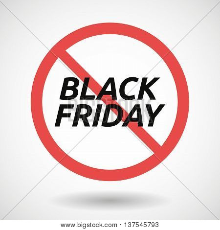 Isolated Forbidden Signal With    The Text Black Friday