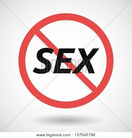 Isolated Forbidden Signal With    The Text Sex