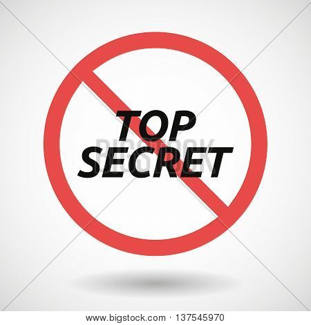 Isolated Forbidden Signal With    The Text Top Secret