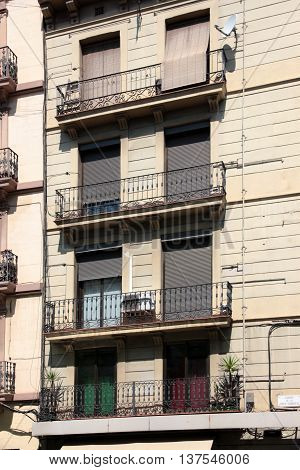 urban structures, streets and buildings of Barcelona, Spain