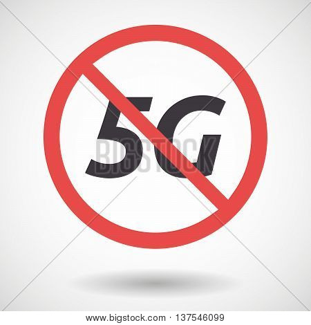 Isolated Forbidden Signal With    The Text 5G