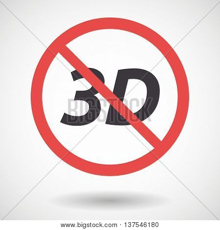 Isolated Forbidden Signal With    The Text 3D