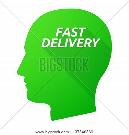 Isolated Long Shadow Male Head With  The Text Fast Delivery