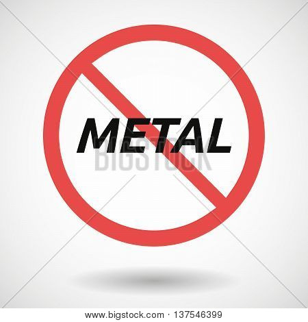 Isolated Forbidden Signal With    The Text Metal