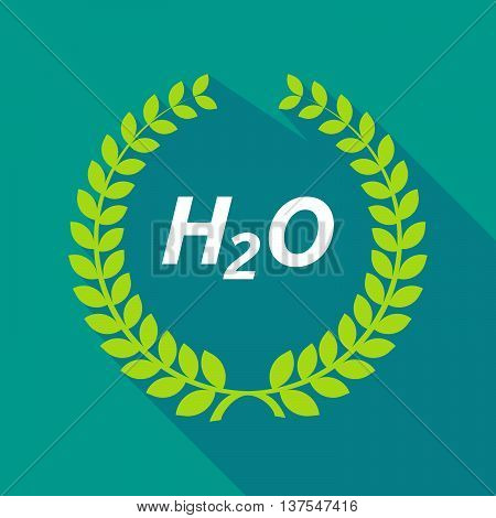Long Shadow Laurel Wreath With    The Text H2O