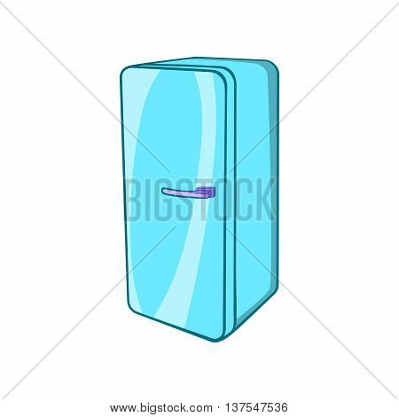 Refrigerator icon in cartoon style isolated on white background. Kitchen appliances symbol