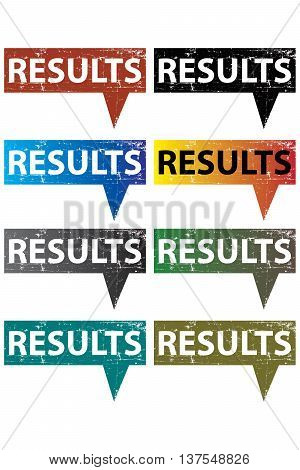 results speech bubble isolated efficiency test results solution, speech backgrounds