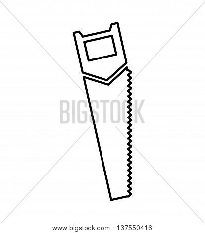 Constuction and repair concept represented by saw tool icon. isolated and flat illustration