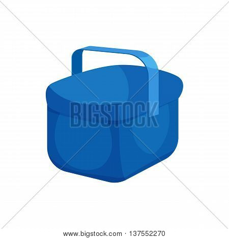 Cooler bag icon in cartoon style isolated on white background. Technique symbol