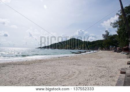 Thailand Koh Phangan (Phangan Island) view of a beach