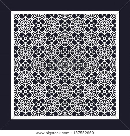 Openwork Square Frame With Geometric Pattern.