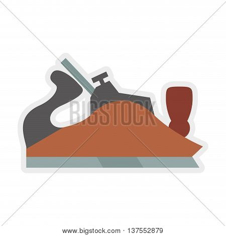 Constuction and repair concept represented by plane tool icon. isolated and flat illustration