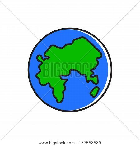 Earth globe. World, planet, geography. Global concept. Can be used for topic like geography, planet, travel
