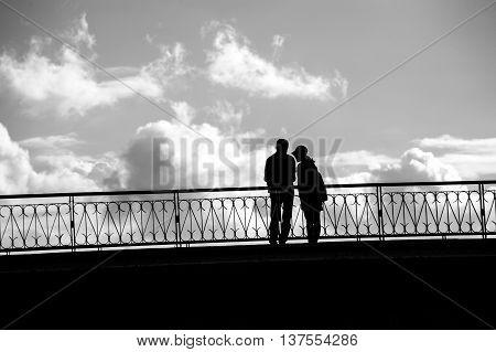 Couple on the old Bridge at Sai Gon