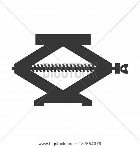 Constuction and repair concept represented by jack tool icon. isolated and flat illustration