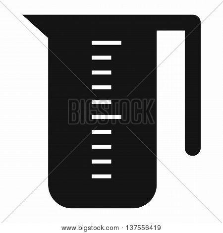Measuring cup icon in simple style isolated vector illustration