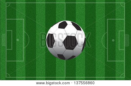 Empty football field with markup. Top view. Sports Concept