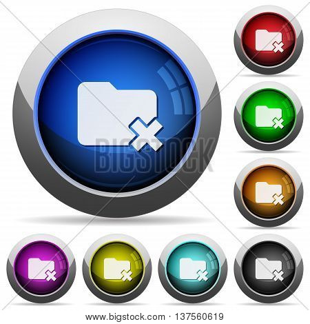 Set of round glossy Folder cancel buttons. Arranged layer structure.