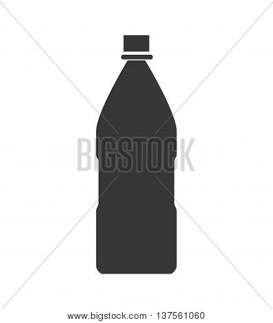 Soda and drink  concept represented by silhouette bottle icon. isolated and flat illustration