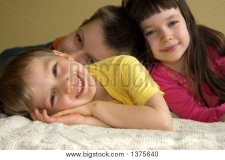 Three Playful Kids