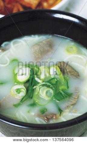 Korea cuisine Ox Bone Soup