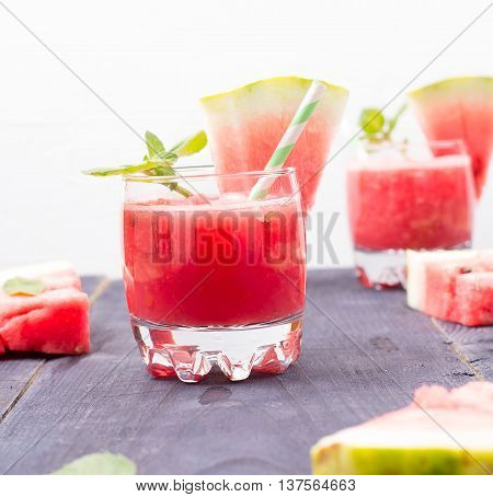 Water-melon drink on a table